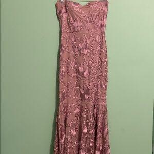 Mauve floor length gown